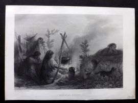 After Portaels C1870 Art Journal Print. Bohemian Gipsies